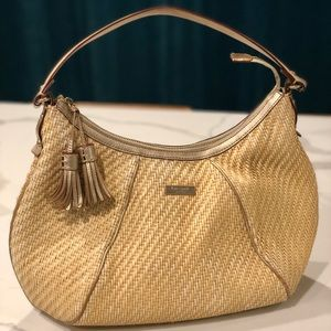 Authentic Kate Spade Woven Straw Wicker Bag/Purse